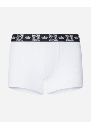 Dolce & Gabbana Underwear - STRETCH COTTON BOXERS WHITE