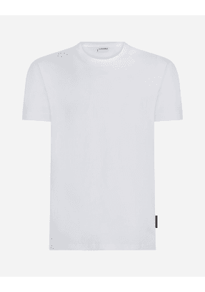 Dolce & Gabbana Underwear - ROUND-NECK T-SHIRT IN STRETCH COTTON WHITE