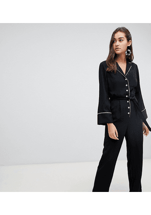 New Look Belted Jumpsuit-Black
