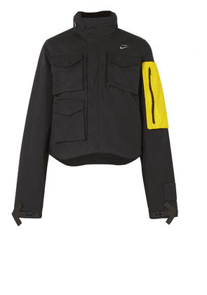 Nike - Nrg + Off-white Shell-trimmed Cotton-ripstop Jacket - Black