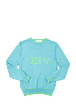 Tuesday Intarsia Cotton Knit Pullover
