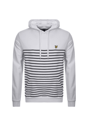 Lyle And Scott Stripe Pullover Hoodie White