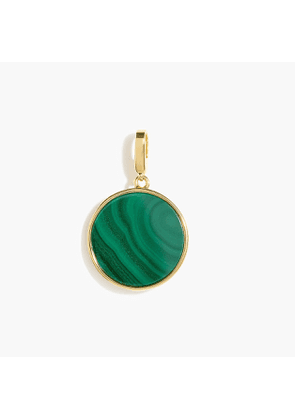 Demi-fine 14k gold-plated malachite charm