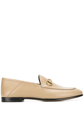 Gucci Brixton leather loafers - Neutrals