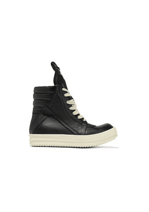 Rick Owens Geobasket Leather High-top Sneakers Woman Black Size 36