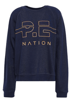 P.e Nation Printed French Cotton-terry Sweatshirt Woman Navy Size XS