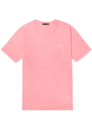 Acne Studios - Nash Logo-appliquéd Cotton-jersey T-shirt - Pink