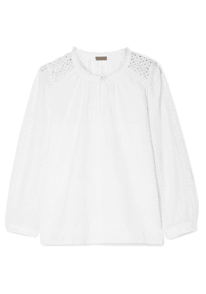 J.Crew - Groveland Embroidered Broderie Anglaise-trimmed Cotton-voile Blouse - White
