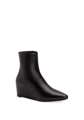 Palmer Leather Wedge Booties