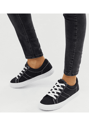 ASOS DESIGN Decency lace up trainers in black