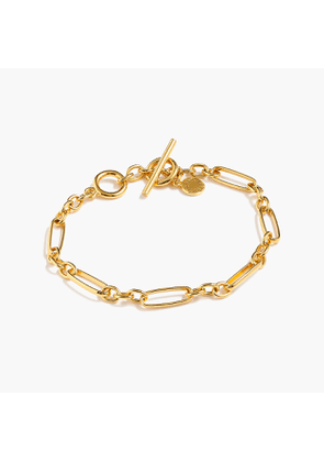 Demi-fine 14k gold-plated multi-link bracelet