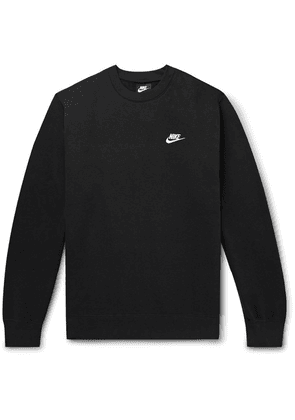 Nike - Sportswear Club Logo-embroidered Cotton-blend Tech Fleece Sweatshirt - Black