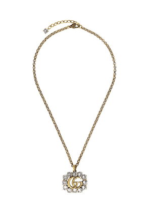 Gucci embellished Double G necklace - GOLD