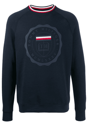 Tommy Hilfiger crest print relaxed-fit sweatshirt - Blue