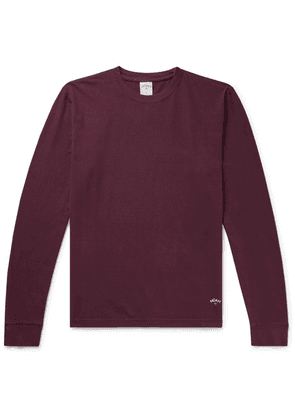 Noah - Recycled Cotton-jersey T-shirt - Burgundy