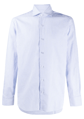 Barba slim-fit striped shirt - Blue
