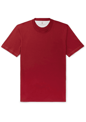 Brunello Cucinelli - Cotton-jersey T-shirt - Red