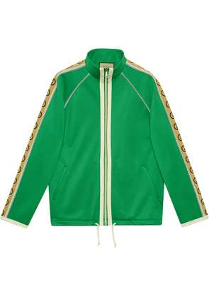 Gucci logo stripe zip-front jacket - Green