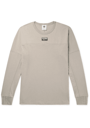 adidas Originals - Logo-appliquéd Cotton-jersey T-shirt - Beige