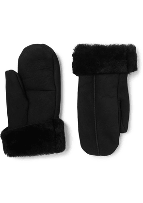 Dents - Inverness Shearling Mittens - Black