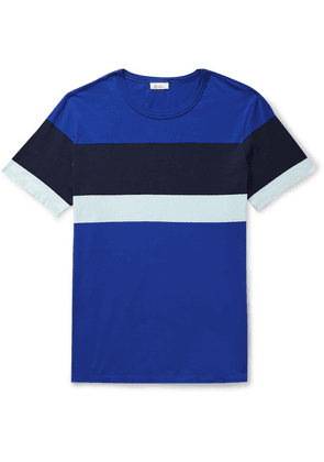 Schiesser - Striped Cotton-jersey T-shirt - Blue