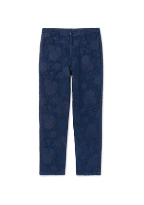 Blue Blue Japan - Indigo-dyed Cotton-blend Trousers - Blue