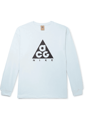Nike - Acg Nrg Logo-print Cotton-jersey T-shirt - Light blue