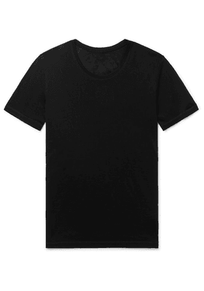 Secondskin - Slim-fit Silk-jersey T-shirt - Black
