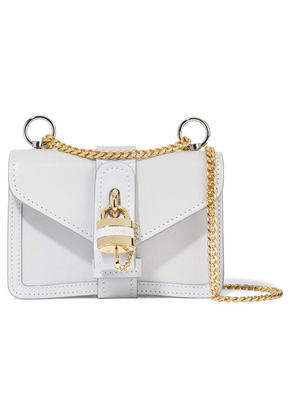 Chloé - Aby Chain Mini Textured And Smooth Leather Shoulder Bag - Light blue