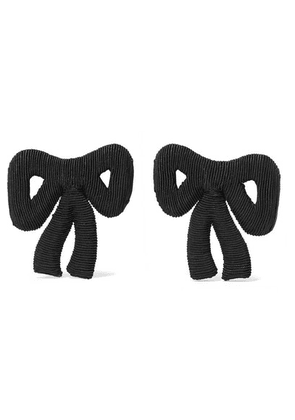 Rebecca de Ravenel - Tie Me Up Cord Clip Earrings - Black