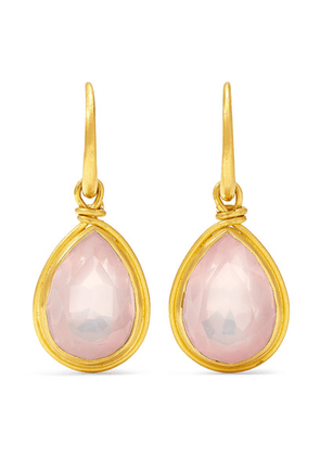 Marie-Hélène de Taillac - Medici 18-karat Gold Quartz Earrings - one size