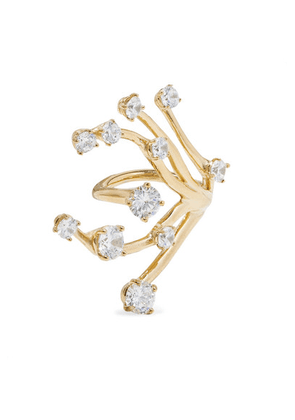 Panconesi - Constellation Fire Gold-plated Crystal Ring - 52