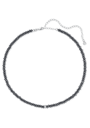 Sydney Evan - 14-karat White Gold, Hematite And Diamond Choker - one size