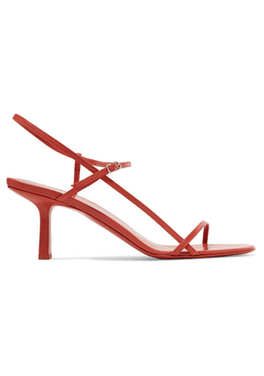 The Row - Bare Leather Sandals - Red