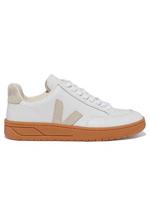Veja - V-12 Suede-trimmed Leather Sneakers - White