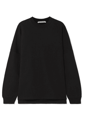 alexanderwang.t - Oversized Printed Cotton-terry Sweatshirt - Black