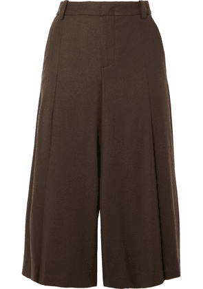 Vince - Pleated Twill Culottes - Army green