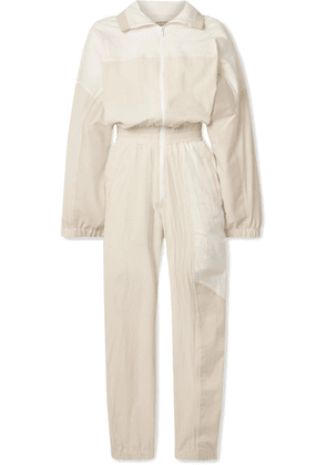 Paradised - Kelsey Paneled Cotton-blend Voile And Twill Jumpsuit - Cream