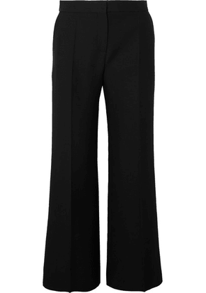 Valentino - Wool And Silk-blend Crepe Flared Pants - Black