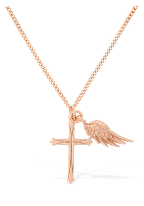 Wing & Cross Double Charm Necklace
