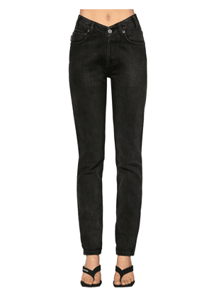 V Waist Japanese Twill Denim Jeans
