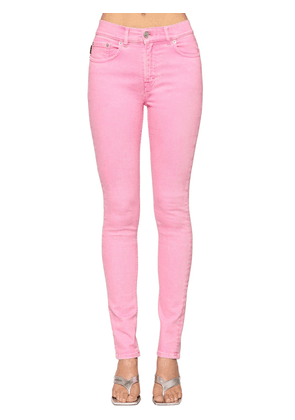 V Waist Stretch Denim Skinny Jeans