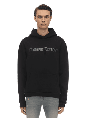 Embroidered Fantasy Cotton Hoodie
