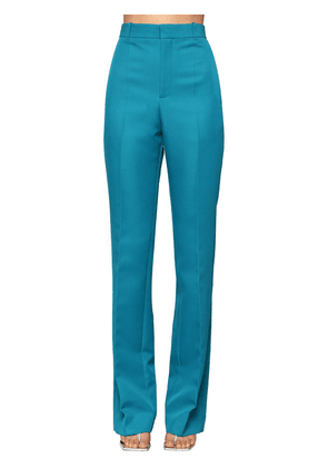 High Waisted Straight Leg Twill Pants