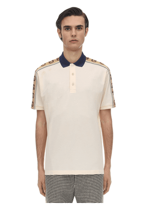 Stretch Cotton Piquet Polo Shirt