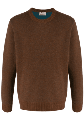 Acne Studios two-tone knitted jumper - Brown