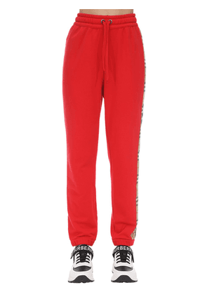 Jersey Sweatpants W/ Checked Side Bands