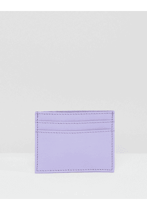 ASOS DESIGN leather and suede cardholder-Purple