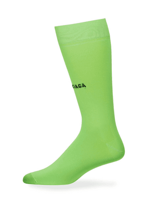 Green Men's Classic High Socks Fluorescent Green