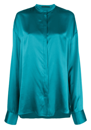 Blue Women's Blue Long-Sleeve Blouse